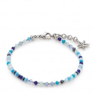 LEONARDO Armband Capri 016921 CIAO 16, 5cm Glasperlen Blautöne
