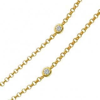 Kette Diamantkette Gelbgold 585 9 Diamanten TLB/P1 zus. 0, 30ct 45cm