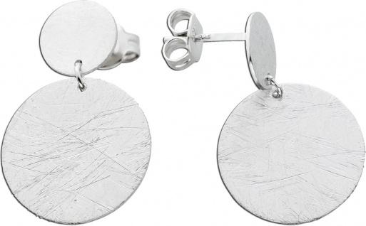 Beweglich Silberplatten Ohrstecker Ohrringe Silber 925 gebürstet