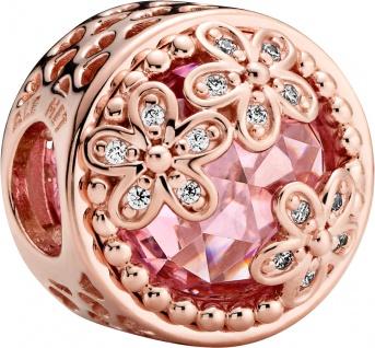 Pandora Garden Charm 782055C01 Sparkling Pink Daisy Flower Rose Pink