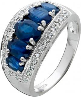 Edelstein Diamant Ring Weissgold 585 weisse Diamanten 0, 15 ct W/P