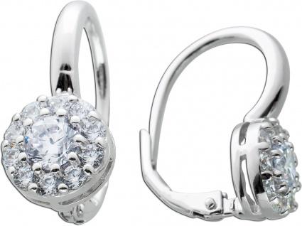 Ohrringe weißen Zirkonia Silber 925 Ohrschmuck