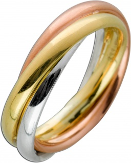 Tricolor Ring Gelbgold Rosegold Weissgold 333 5, 2mm Breite