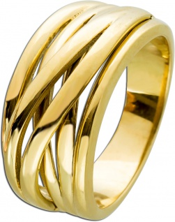 Drahtmuster Damen Ring Edelstahl T-Y gelb vergoldet Toyo Yamamoto