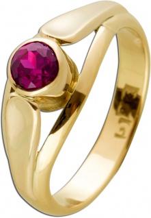 Antiker Ring Gelbgold 333 Poliert Synthetisch Rubin Edelstein Um 1900