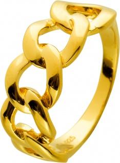 Kettenring Silber 925 Vergoldet
