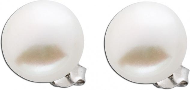 Silber Ohrstecker Perlen Süßwasserzuchtperlen Ohrringe Silber 925