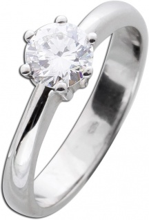 Solitär Ring Diamant Brillant Vorsteckring Weißgold 585 Brillant