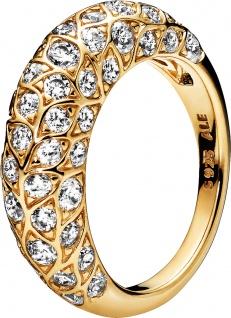 PANDORA Ring 168746C01 Sparkling Pattern SHINE Metall vergoldet 18kt