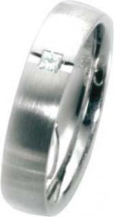 Trauring Weißgold 585 mit Diamant im Princess Cut 0, 05 ct