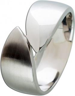 Edelstahl Ring Toyo Yamamoto T-Y modernes Design poliert/mattiert