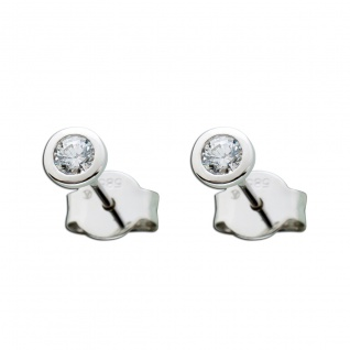 14 Karat Ohrringe 0, 25ct TW/IF Diamant Brillant Solitär Ohrstecker