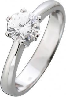 GIA zertifizierter Diamantring 0, 85ct River E / VS1 Brillantschliff