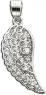 Flügelanhänger Sterling Silber 925 Zirkonia