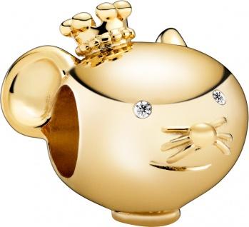 Pandora Charm 768587C01 Shining rat Shine vergoldet Chinesisches