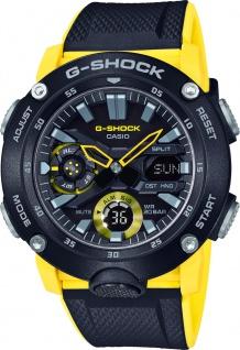 CASIO Unisexuhr GA-2000-1A9ER gelb schwarzes Resin Armband G-Shock