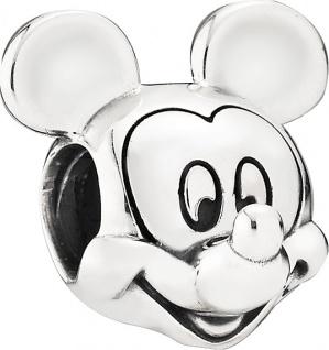 PANDORA Disney Charm 791586 Micky Portrait Silber 925 Mickey Maus