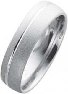 Weißgold in 18k 750/-, Breite 6, 0mm, Stärke 1, 6mm der Ring ist