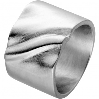 Ring Edelstahl mattierte Oberfläche Design by Vivien Lee