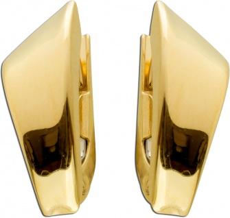 Ohrringe Brisur Gold Creolen Gelbgold 333 15x7mm