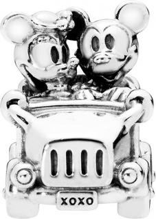 PANDORA Disney Charm 797174 Mickey Minnie Vintage Car Silber 925 Maus