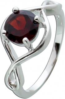 Edelstein Ring roten Granat Silber 925 Damenring