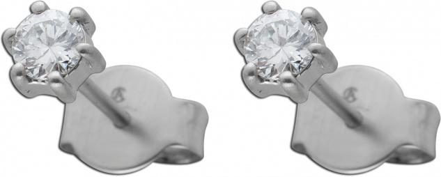 Diamant Ohrringe Brillant Ohrstecker Platin 950 Solitaerstecker 0, 35