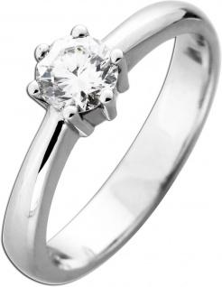 Funkelnder Diamant Brillant Ring Verlobungsring Solitär Weißgold 585