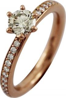 Solitär Ring Brillanten 0, 80ct Rosegold 750 by Saskia Dattner