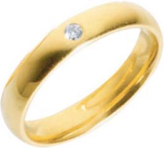 Trauring Gold 585 Brillant 0, 05ct W/SI 4x1, 7mm
