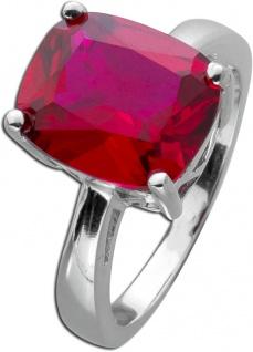 Roter Edelstein Ring Silber 925 roter Rubin rekonstruiert