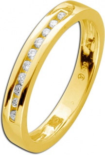 Memory Ring Gelb Gold 585 Brillant Diamant 0, 10ct WSI