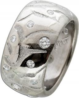 Massiver Brillant Ring Weissgold 750 TW/IF-Vvs 0, 64 Carat Lapponia