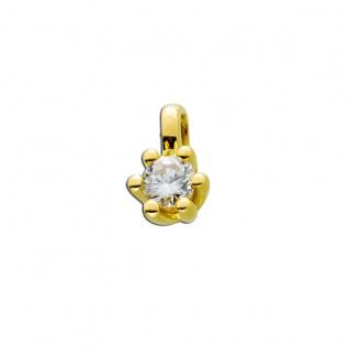 Diamant Anhänger Gold 585 14kt Solitär Brillant 0, 25ct