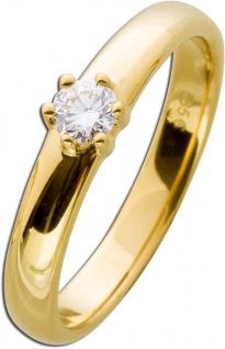 Diamantring Verlobungsring Diamant Brillant Solitär Gelbgold 585