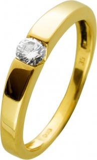 Brillantring Gelbgold 585 Brillant