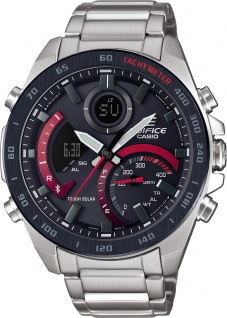 CASIO Herrenuhr Edifice ECB-900DB-1AER Bluetooth Solar Analog Digital