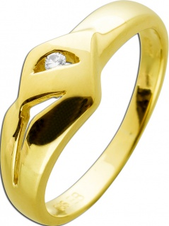 Ring Gelbgold 585 Brillant 0, 025ct TW/VSI