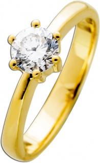 Diamantring Gold 585 Brillant 0, 62ct TW F / VVS1 IGI zertifiziert