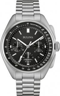 Bulova Lunar Pilot Quarz 96B258 Herrenuhr Edelstahl Chronograph