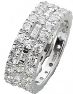 Silberring Set 3-teilig weißen Zirkonia Silber 925