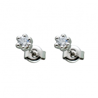 Ohrringe - Ohrstecker Platin 950 Brillanten 0, 20ct