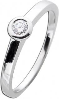 Vorsteckring Diamant Brillantring Zargenfassung Weißgold 585 0, 15ct