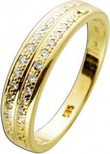 Ring Gelbgold 585 20 Diamanten 8/8 0, 20ct TW/SI
