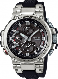 CASIO Herrenuhr MTG-B1000-1AER silber Bluetooth Solar Funkuhr Smart