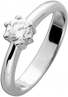 Solitärring Diamantring Weissgold 585 Brillant 0, 45ct TW/IF Gr. 19mm