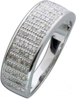 Diamant Ring weiss Sterling Silber 925 Brillantring breit