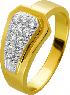 Brillant Diamant Ring Gelb Gold 750 zus 0, 20ct TW VVSI