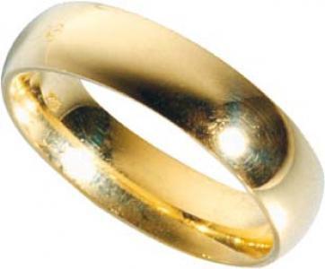 Trauring in Gelbgold 750/-, Breite 7, 0mm, Stärke 2, 3mm. Die Gravur