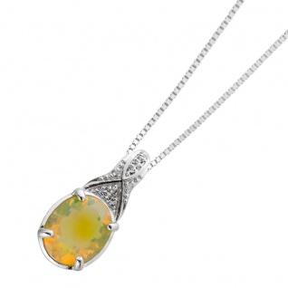 Silberkette äthiopischen Opal Silber 925 Topasschmuck